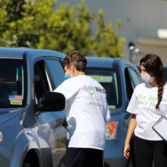 Flu Shot's social distancing style. Thank you to our amazing volunteers, nurses, staff, community partners & seniors!